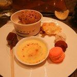 Dessert at the hotel dinner buffet restaurant