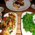 really delicious veg - smashed herbed new potatoes a must