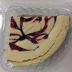 Baked cheesecake quarter slice