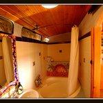 Bathroom of airport bus