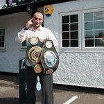 Regular  Loves our steak Ben Jones  WBO European super-featherweight champion