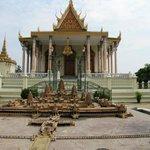 Model of Angkor Wat at rear