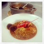 Star dish! Lobster paella broth