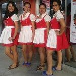 Manuela, MaiMai, Daisy and Precila - our service crew
