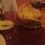 large fluffy naan bread - enough for 4..