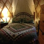 This is the inside of our Yurt