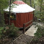 Here is our Yurt from the outside