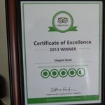 Well Deserved Excellence Certificate