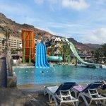Badeparken i tilknytning til hotellet