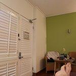 Interior de um apartamento térreo