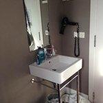the washbasin inside the room