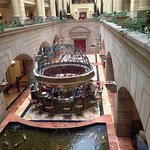 Fish pond in lobby