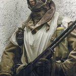 Amerikaanse soldaat in wintercamouflage