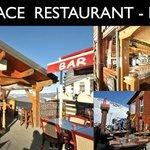Deux terrasses chauffées, une salle de restaurant chaleureuse, A table les amis!