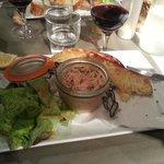 Hors d'oeuvre pâté de saumon