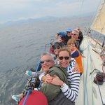 Our crew enjoying the sail!