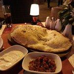 Turkish bread....huge and scrumptious!