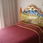 cama do quarto Monte Alban