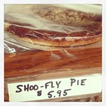Shoo-fly pies and other baked goods available for take-out purchase.