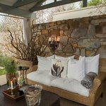 Cosy seating area's to unwind & have a glass of wine.