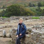 Vindolanda part of the Roman fort and hillside