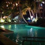 Pool b at night.