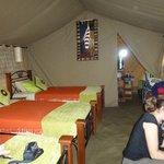 L'intérieur de notre tente