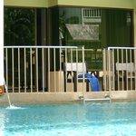 Balkon zum Pool