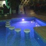 Outside pool (lights change color!)