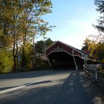 The covered bridge leading into Jackson New Hampshire