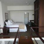 comfy bed on split level