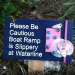 Sign near boat ramp