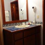 Vanity Area - Shower was beautiful, too