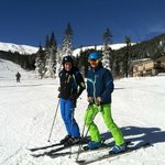 Owner and Manager skiing on Opening day at Loveland 10/17/13