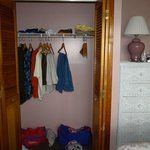 Closet in Private Bedroom