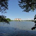 Blick zum Schloss Moritzburg