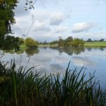One of Capability Brown's many water creations looking towards the Court