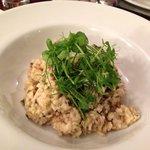 Garlic and mushroom risotto