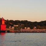 Vor dem Abendessen zum Sonnenuntergang zum Leuchtturm
