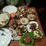 the appetizers from the Cedar Tree Mezze