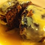 Sticky toffee pudding! Delicious and huge!!