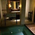 Outdoor bathroom and plunge pool