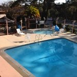 Very nice clean pool and jacuzzi, gasebo.