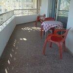 patio face a la mer de l'appartement