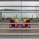 View of the private patio, dock & lake