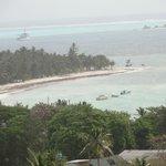 Vista del mar en Caribe Campo