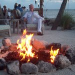 Firepit by the dining beach