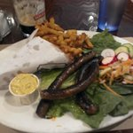 Assiete Merguez at Frites Alors, Rue St Catherine, Montreal