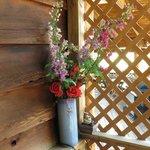flowers in deck area of Sequoia Room
