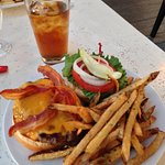 Delicious burger with amazing SRock fries!